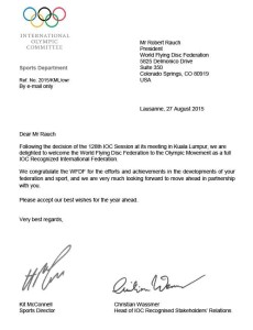 International Olympic committee invitation letter
